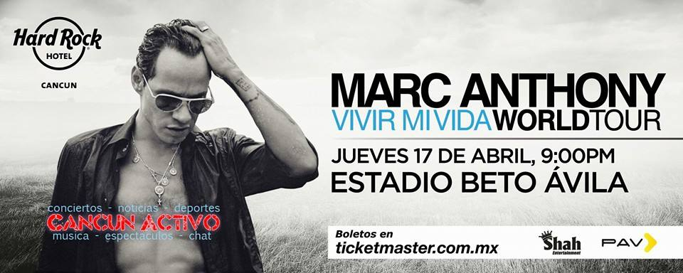 Concierto de Marc Anthony World Tour Vivir Mi Vida